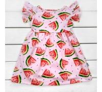 Платье для девочки с ярким принтом Арбузики
