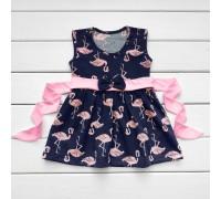 Детское летнее платье Фламинго