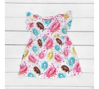 Детское платье с ярким рисунком Sweetie