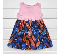 Сукня дитяча Літо з принтом пір'ячко