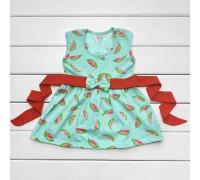 Дитяча сукня з пояском Кавунчики