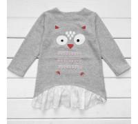 Детская туника-платье для девочки Совенок