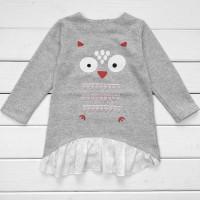 Дитяча туніка-сукня для дівчинки з футеру Сова