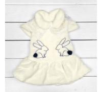 Детское платье из велсофта Зайки