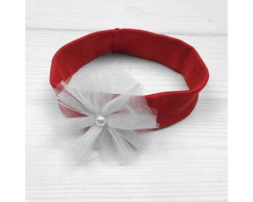 Красная повязочка для девочки