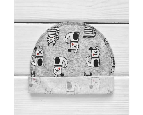Шапочка с наружным швом в роддом Котопёс