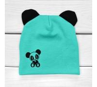 Детская демисезонная шапочка Панда