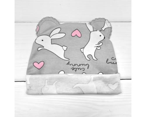 Детская шапочка с ушками интерлок-пенье Bunny