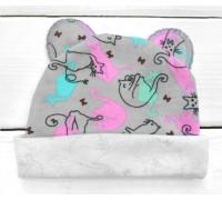 Шапочка для малышей с ушками Котики