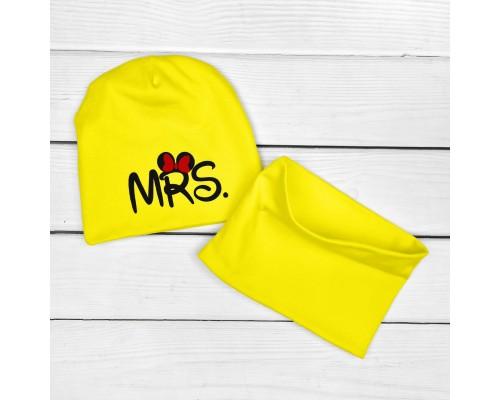 Двухслойная детская шапочка с хомутом MRS