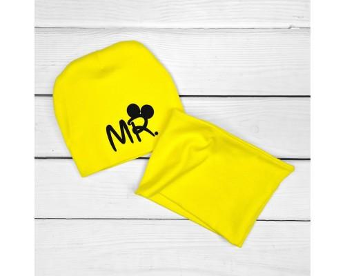 Двойная детская шапочка с хомутом MR