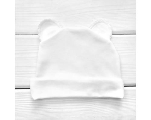 Шапочки з вушками білого кольору