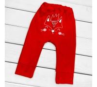Детские однотонные штаны с принтом сзади Foxie