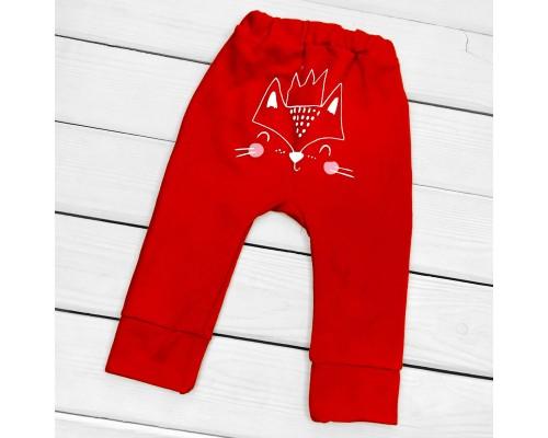 Дитячі однотонні штани з принтом ззаду Foxie