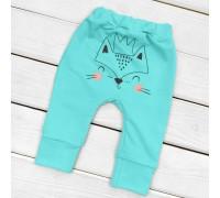 Футерные штанишки с начесом и с рисунком сзади Foxie