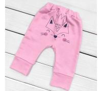 Детские штаны с начесом с принтом сзади Foxie