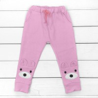 Детские штаны с аппликацией и карманами Ушки