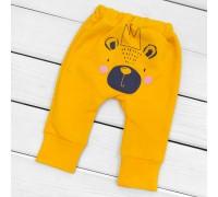 Детские трикотажные штаны на осень с начесом Panda