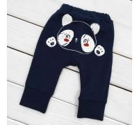 Штани для дитини темні з принтом ззаду Panda