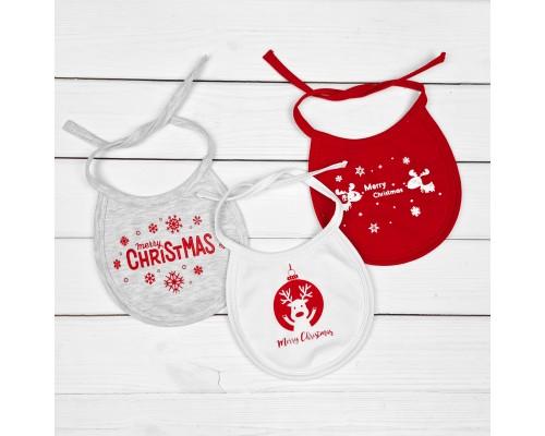 """Новорічний слюнявчик """"Merry Christmas"""""""